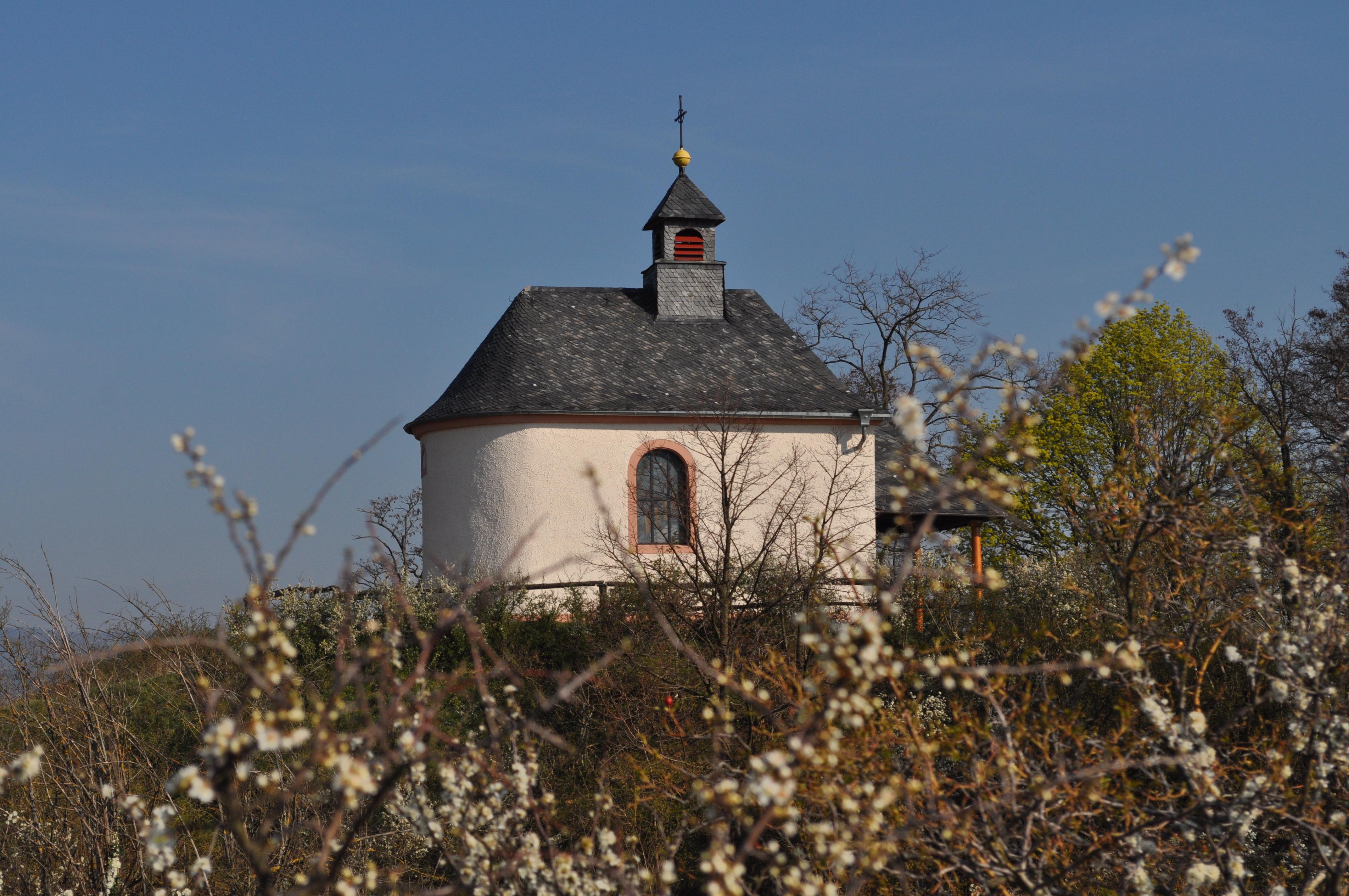 Hofgarten Rosa Gästezimmer Ilbesheim Kapelle